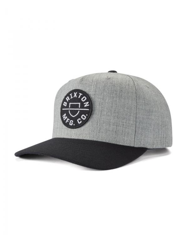 Brixton Crest C MP Cap (heather grey/black)