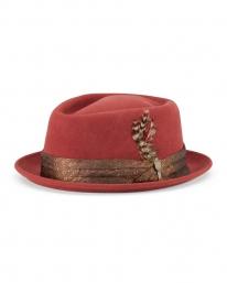 Brixton Stout Adjustable Hat (dark brick)