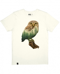 Dedicated Forest Owl T-Shirt (off white)