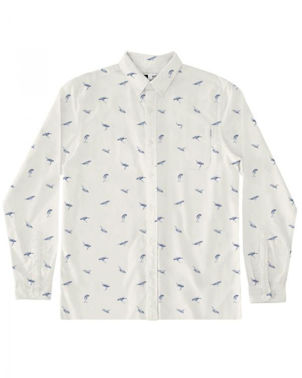 Dedicated Varberg Whales Hemd (off white)