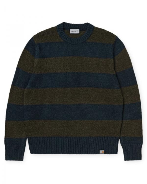 Carhartt WIP Alvin Strick Sweater (alvin stripe/admiral/cypress)