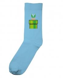 Dedicated X Nintendo Green Tube Socken (light blue)