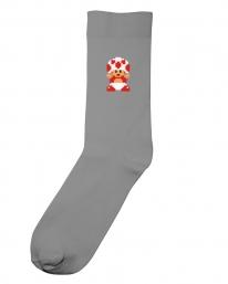 Dedicated X Nintendo Toad Socken (grey)