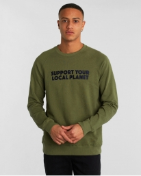 Dedicated Malmoe Bold Support Sweater (leaf green)