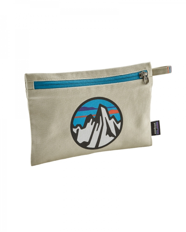 Patagonia Zippered Pouch (fitz roy scope icon/bleached stone)