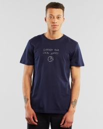 Dedicated Stockholm Local Planet T-Shirt (navy)