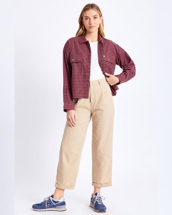 Brixton W Bowery Lightweight Flannel Hemd (cowhide)