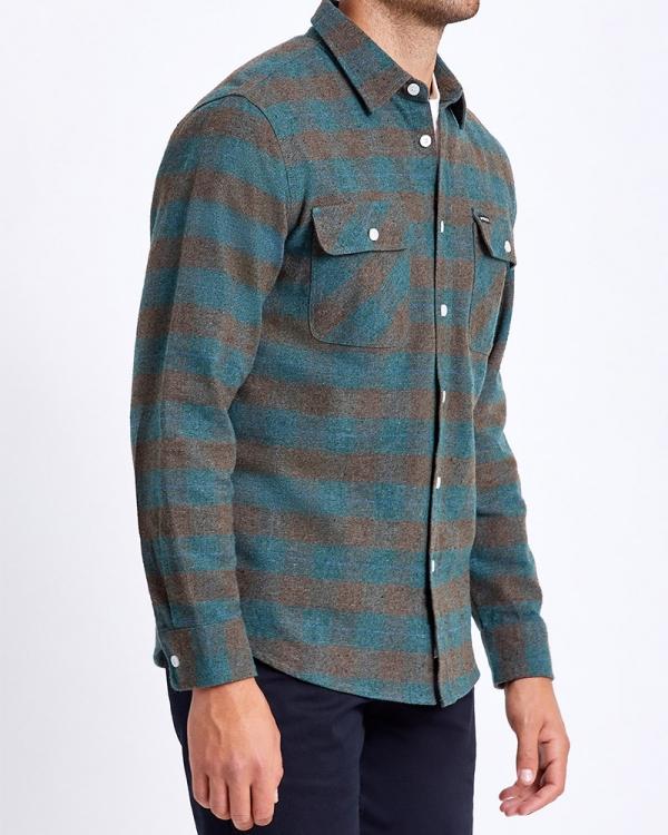 Brixton Bowery Flannel Hemd (ocean)