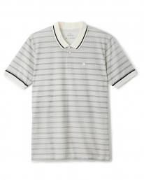 Brixton Proper Polo T-Shirt (off white/washed black)
