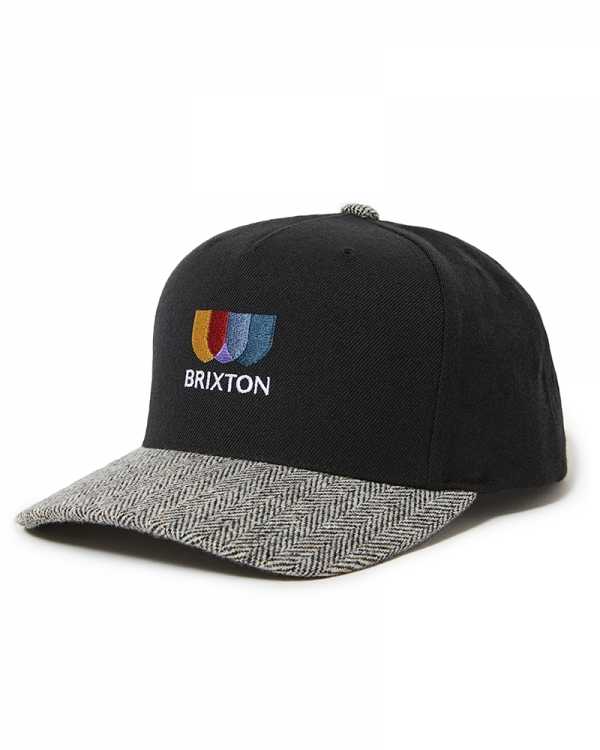 Brixton Alton EMB C Cap (black/white herringbone)