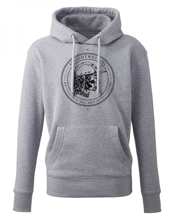Schichtwechsel Stadtindianer Hoodie (light heather grey)