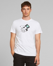 Dedicated Stockholm Snoopy Flag T-Shirt (white)