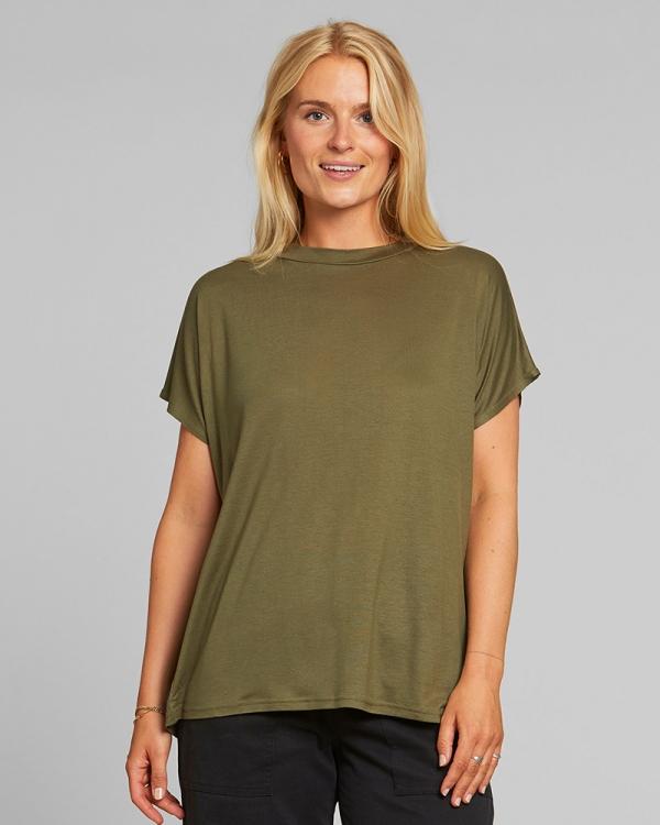 Dedicated Top Flor T-Shirt (leaf green)