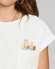 Dedicated W Visby Flower Pocket T-Shirt (off white)