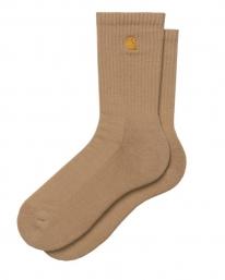 Carhartt WIP Chase Socken (dusty hamilton brown/gold)