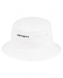 Carhartt WIP Script Bucket Hat (white/black)