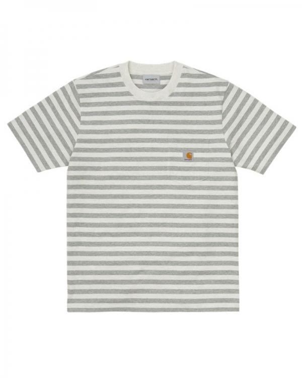 Carhartt WIP Scotty Pocket T-Shirt (scotty stripe/white heather/grey heather)
