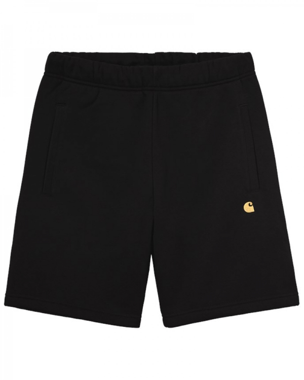 Carhartt WIP Chase Sweat Short (black/gold)