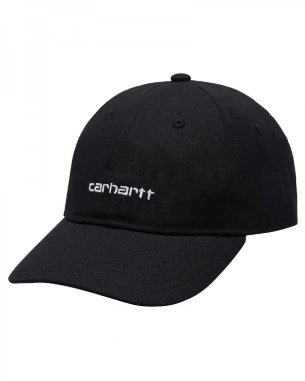 Carhartt WIP Canvas Script Cap (black/white)