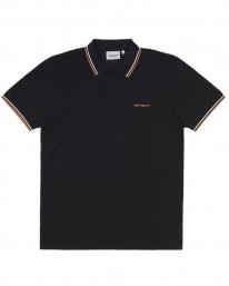 Carhartt WIP Script Embroidery Polo T-Shirt (white/dark navy/kingston)