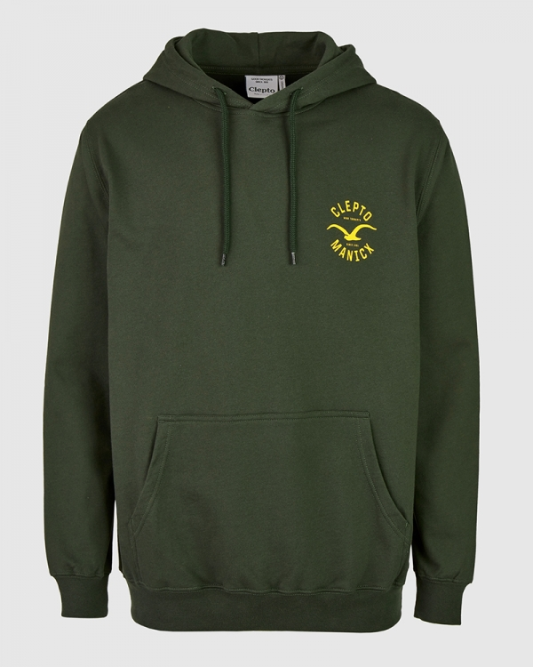 Cleptomanicx Games Hoodie (scarab green)