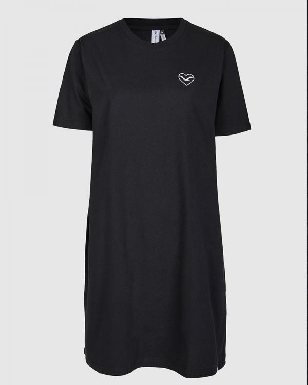 Cleptomanicx Embro Heart Dress (black)