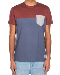 Iriedaily Block Pocket T-Shirt (dark rum)