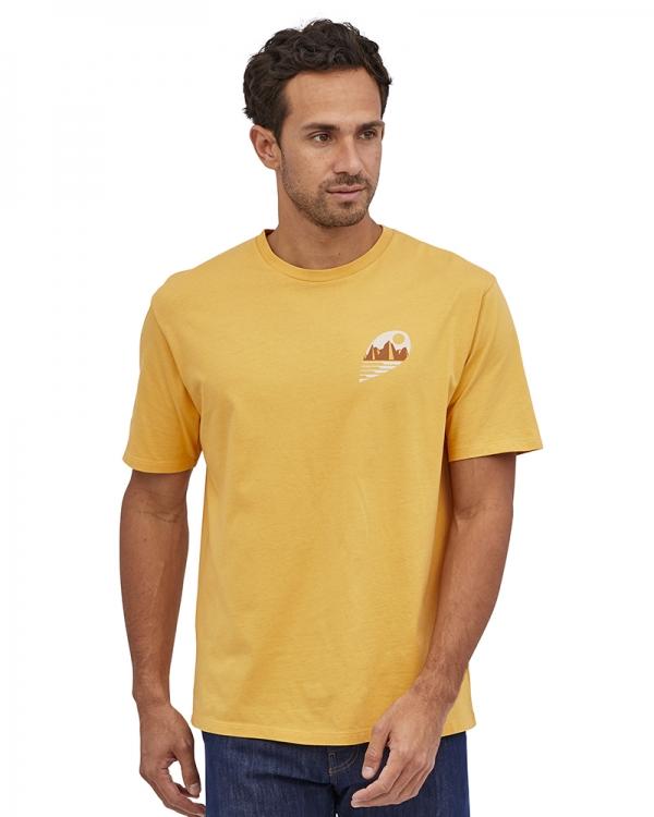 Patagonia Tube View Organic T-Shirt (mountain yellow)