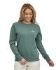 Patagonia W Pastel P6 Label Organic Crew Sweater (regen green)