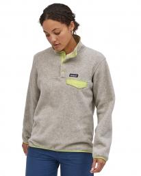 Patagonia W Lightweight Synchilla Snap-T Fleece Sweater (oatmeal heather w/jellyfish yellow)
