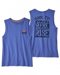 Patagonia W Stop The Rise Organic Cotton Muscle T-Shirt (float blue)