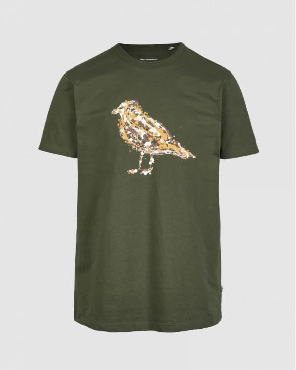 Cleptomanicx Jack Gullock T-Shirt (scarab green)