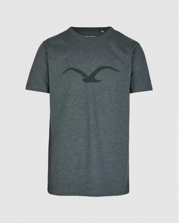 Cleptomanicx Möwe T-Shirt (heather scarab green)