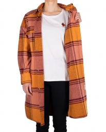 Iriedaily Checky Shirt Jacket (maroon melange)