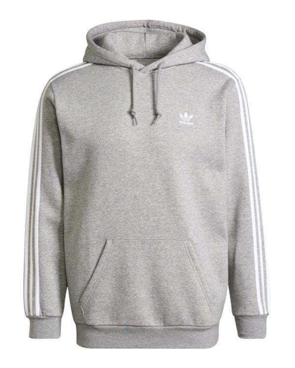 Adidas 3 Stripes Hoodie (melange grey)