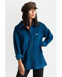Brixton W Bowery Tunic Overshirt Hemd (marine blue)
