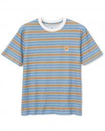 Brixton Hilt Multi Stripe T-Shirt (slate blue/lion sun wash)