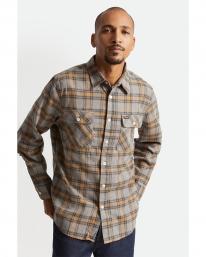 Brixton Bowery Stretch X Flannel Hemd (heather grey)