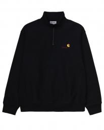 Carhartt WIP American Script Half Zip Sweater (black)