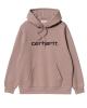Carhartt WIP W Sweat Hoodie (earthy pink/black)