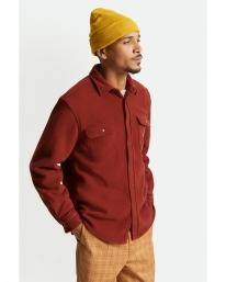 Brixton Bowery Arctic Stretch Fleece Hemd (dark brick)