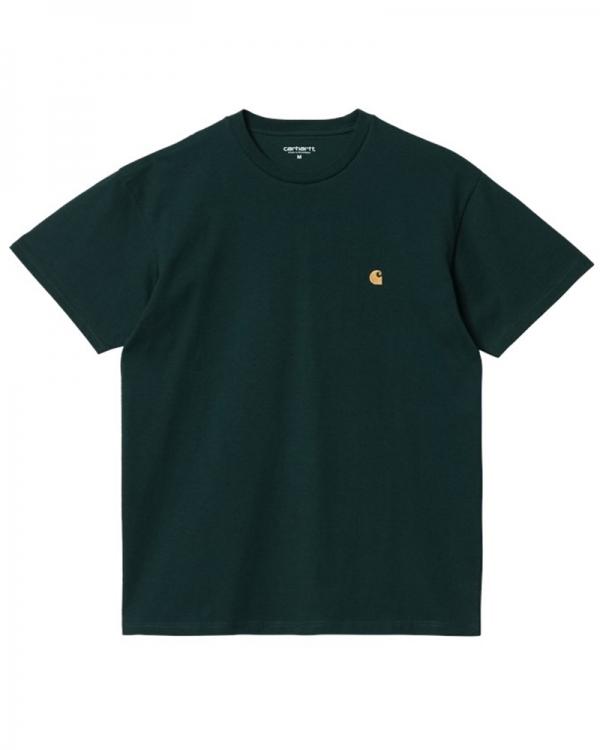 Carhartt WIP Chase T-Shirt (frasier/gold)