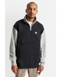 Brixton Alton Mock Neck Zip Sweater (black/grey/heather grey/beige)