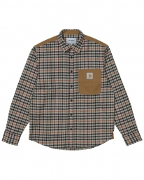 Carhartt WIP Asher Hemd (asher check/leather)