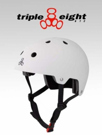 Triple Eight Brainsaver Helm white (versch. Größen)