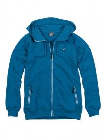 Cleptomanicx Burner WAM Hooded Zipper (port blue)