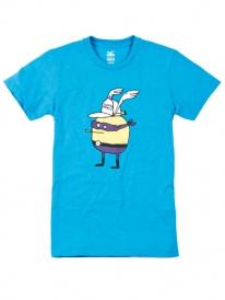 Cleptomanicx Super Zitrone T-Shirt (heather ocean)