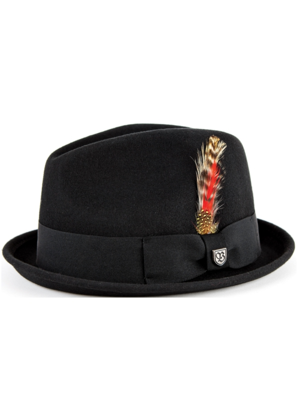 Brixton Gain Hat (black felt)