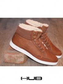 Hub Mark Leather gefüttert (brown/white)