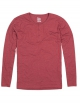 Cleptomanicx Ligull Henley Longsleeve (heather dried tomato)